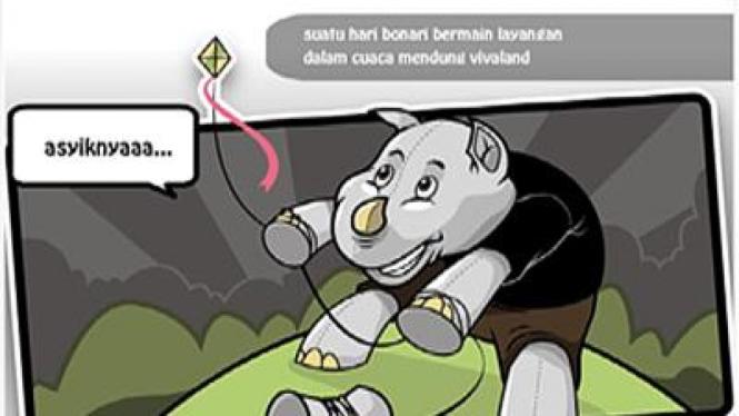 Ilustrasi kartun animasi