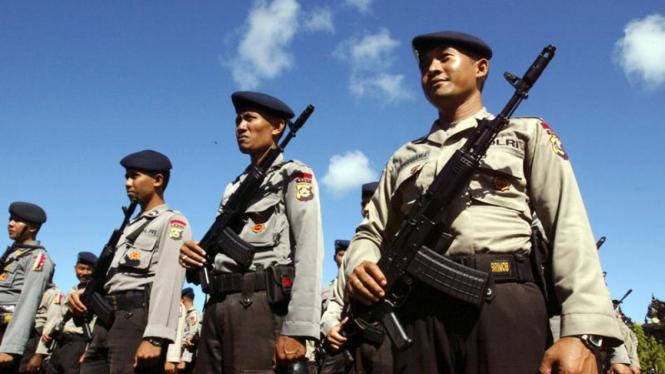 Persiapan Pemilu: Polisi di Bali