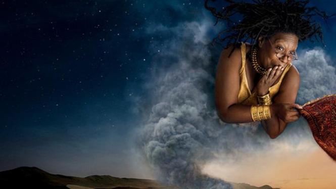 Gambar poster Whoopi Goldberg saat berperan sebagai jin