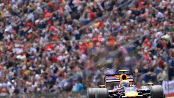 Jerman F1 GP: Sebastian Vettel dari Red Bull