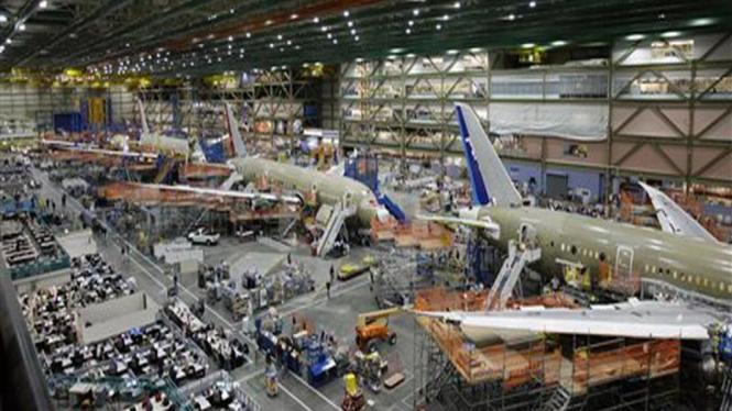 Pabrik perakitan pesawat Boeing di Everett, Amerika Serikat
