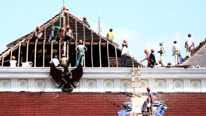 Gedung Agung, salah satu Istana Kepresidenan di Yogyakarta diperbaiki
