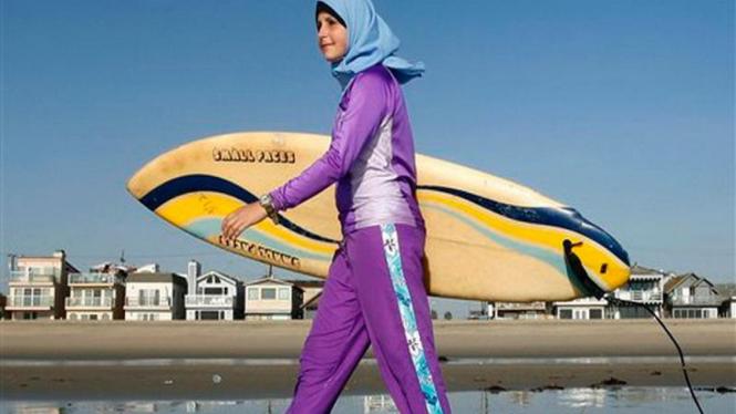 Tampilan baju renang untuk Muslim perempuan