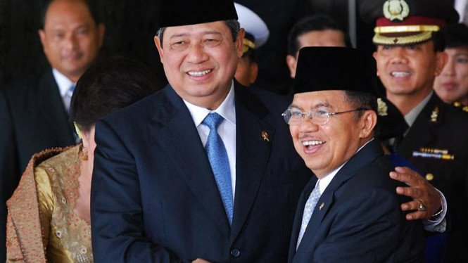 Susilo Bambang Yudhoyono dan Jusuf Kalla beberapa waktu silam.