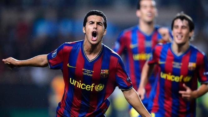 Barcelona Juara Piala Super Eropa : Pedro