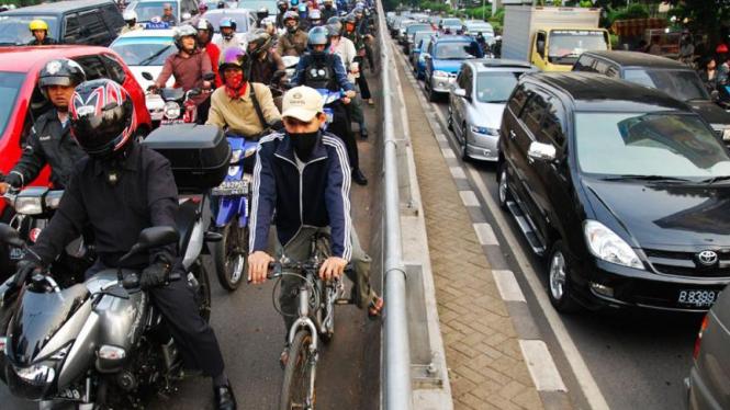 Kemacetan di Jakarta.