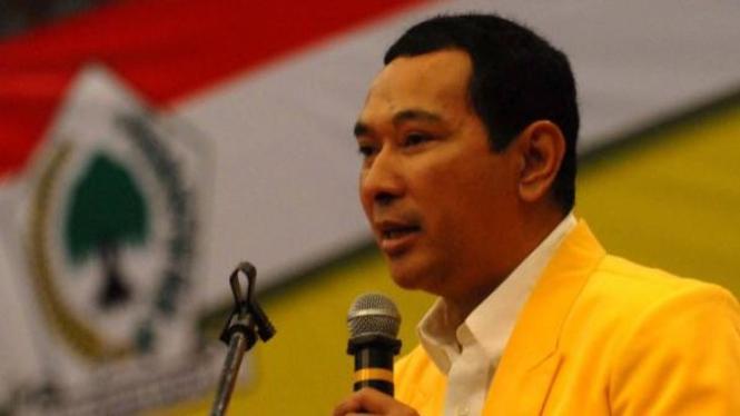 Tommy Soeharto orasi politik kukuhkan diri calon ketua umum Golkar