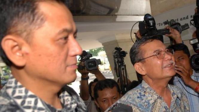 Pimpinan KPK Chandra M Hamzah & Bibit Samad Riyanto ke Mabes Polri