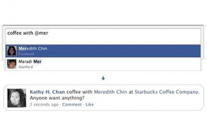Tag di status Facebook