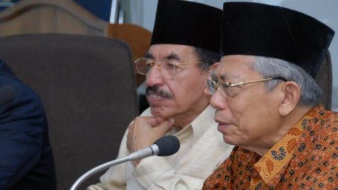Ketua Majelis Ulama Indonesia, Umar Shihab dan Ma'ruf Amin