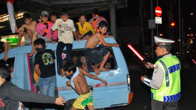 Malam Takbiran di Jakarta