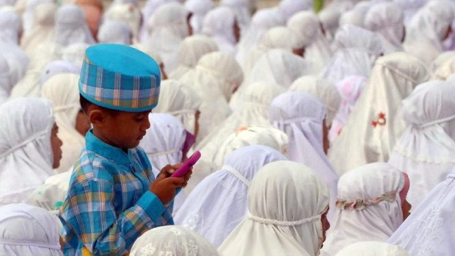 Shalat Ied di Masjid Baiturrahman, Banda Aceh