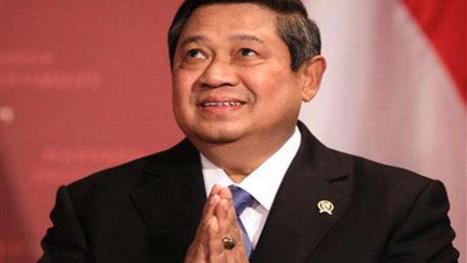 Presiden Susilo Bambang Yudhoyono saat berpidato di Universitas Harvard, AS