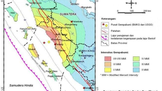Peta Intensitas Gempa Bumi