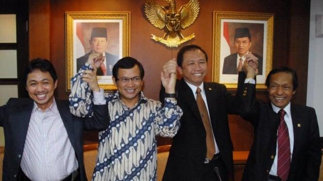 Pimpinan DPR: Anis Matta, Pramono Anung, Marzuki Alie & Marwoto