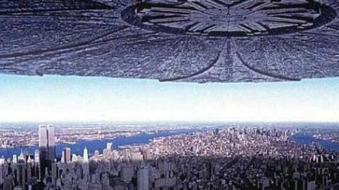 Tampilan UFO di film Independence Day