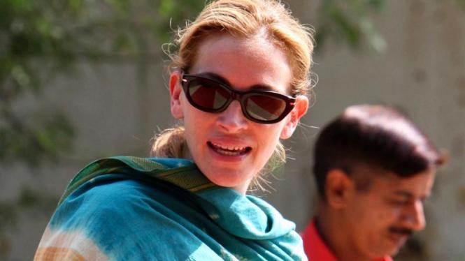 """Julia Roberts Shooting Film """"Eat, Pray, Love"""" di India"""