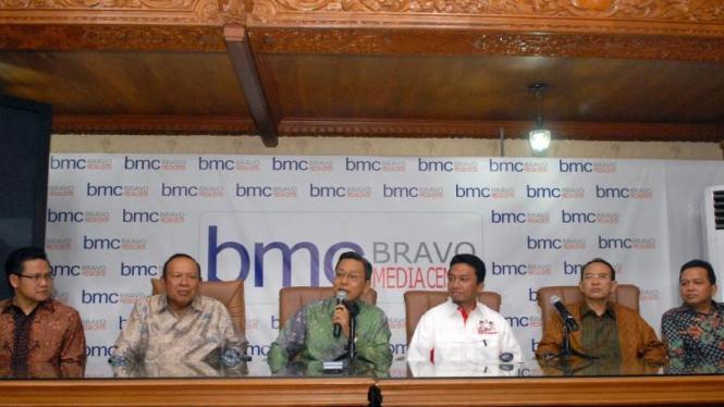 Boediono bersama Ketua-ketua Umum Partai Mitra Koalisi