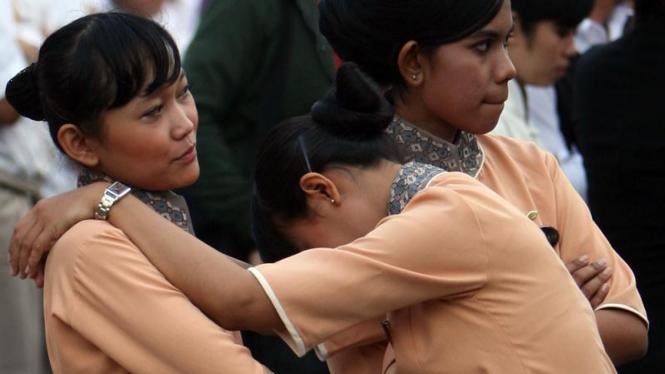 Panik Gempa di Jakarta