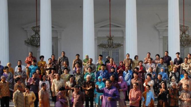 Presiden, Wapres dan Menteri Kabinet Indonesia Bersatu