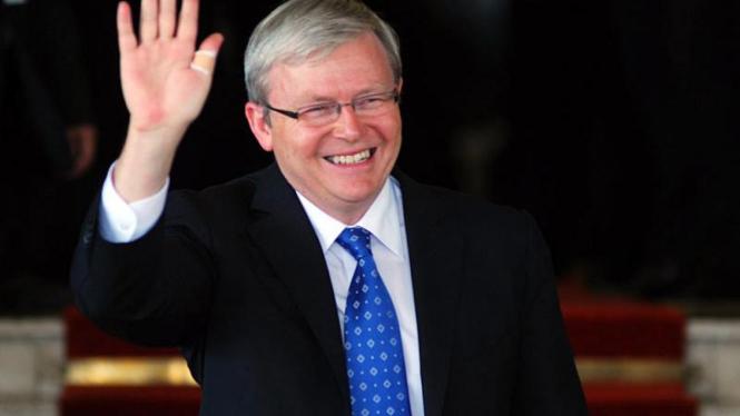 Pelantikan Presiden :  PM Australia Kevin Rudd