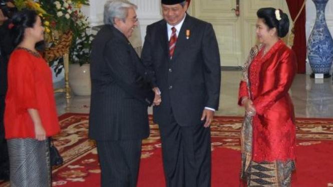 Taufiq Kiemas-Puan Maharani ucapkan selamat pada Presiden SBY