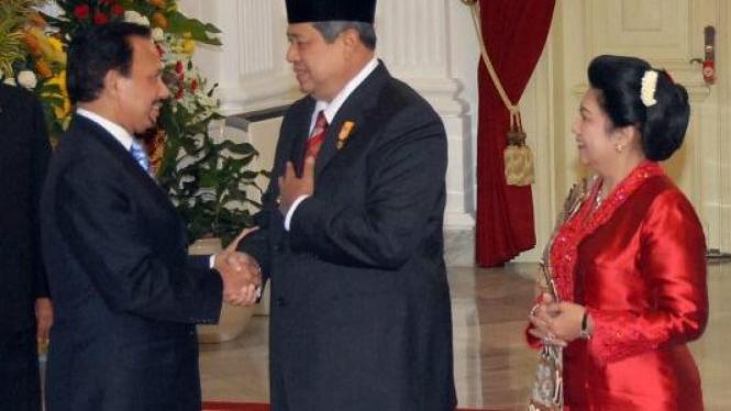 Raja Brunai Darussalam Hassanal Bolkiah ucapkan selamat pada SBY