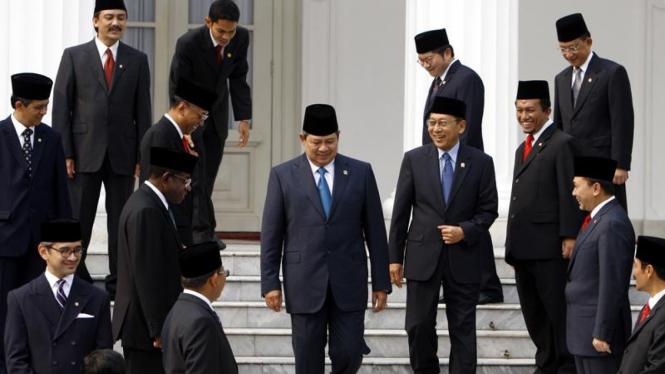 Pelantikan Menteri : Kabinet Indonesia Bersatu II