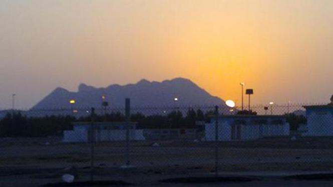 Matahari terbenam di Muzdalifah