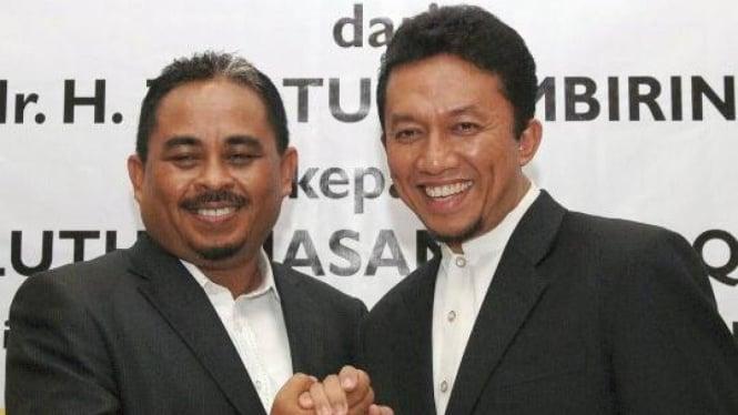 Presiden PKS Luthfi Hasan Ishaaq dan pendahulunya Tifatul Sembiring