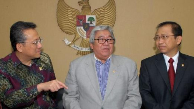 Ketua DPD Irman Gusman, Ketua MPR Taufiq Kiemas & Ketua DPR Marzuki Alie