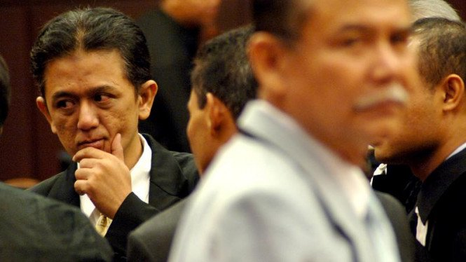 Bibit Samad Rianto dan Chandra M Hamzah Saat  Sidang MK