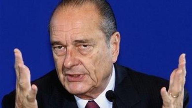 Mantan Presiden Prancis Jacques Chirac