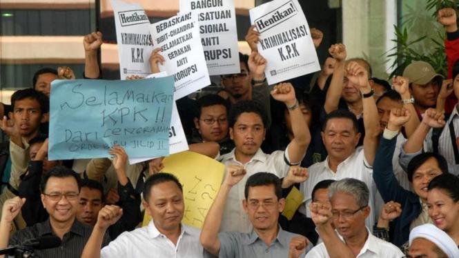 Demo Dukung KPK