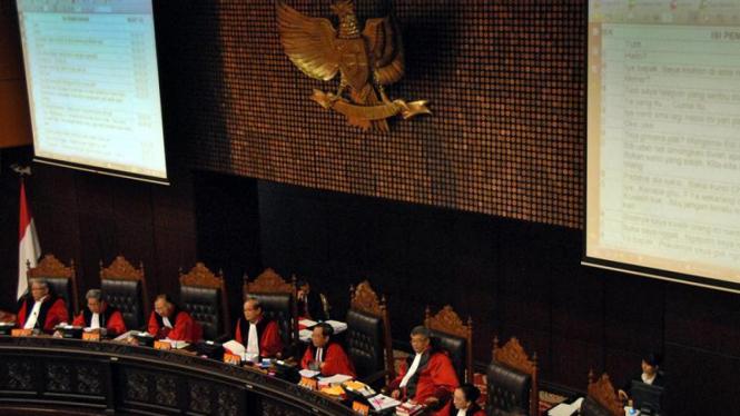 Sidang Uji Materi UU tentang KPK di Mahkamah Konstitusi
