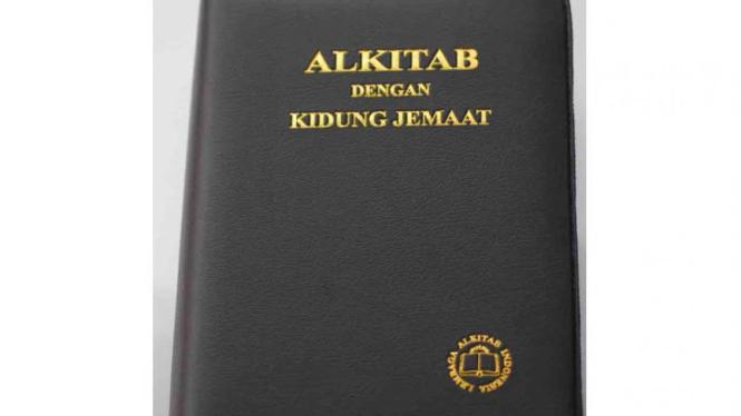 Sampul depan Alkitab dengan Kidung Jemaat
