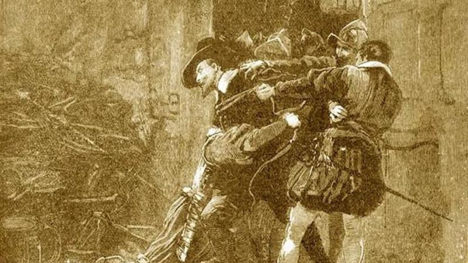 Lukisan ilustrasi penangkapan Guy Fawkes