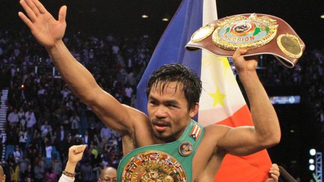 Manny Pacquiao Kalahkan Miguel Cotto