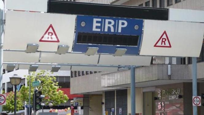 Jalan di  Singapura memakai sistem ERP