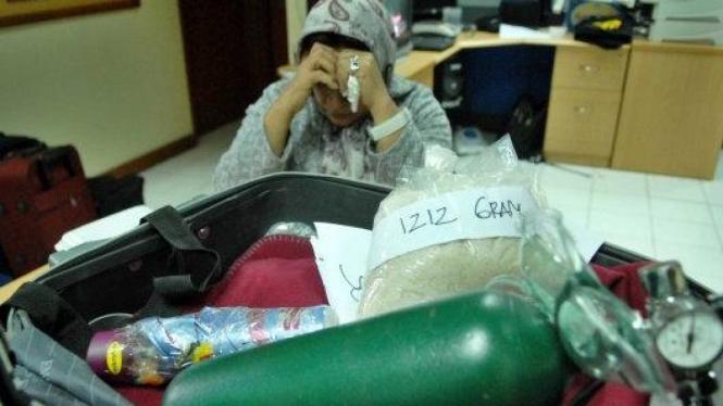 Selundupkan narkoba, Wanita Iran berinisial KM (51) ditangkap
