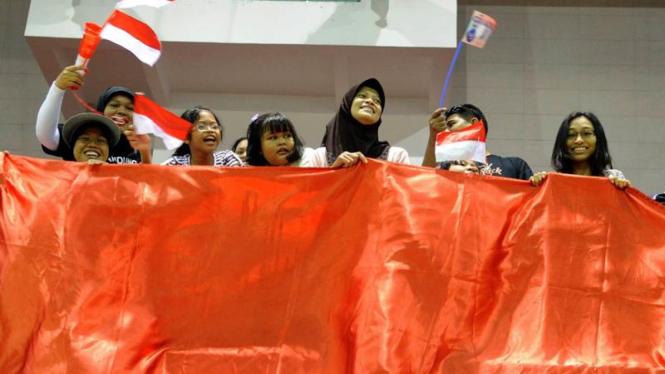 Bulutangkis  Sea Games : Suporter Indonesia