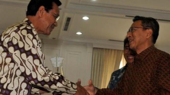Boediono dan Sri Sultan Hamengku Buwono X