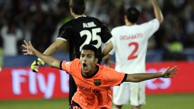 Barcelona Juara Piala Dunia Antar Klub : Pedro