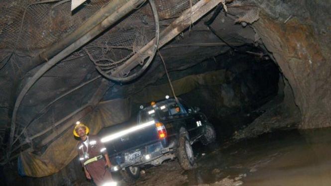 Lokasi penambangan emas PT Aneka Tambang (Antam), Pongkor, Bogor