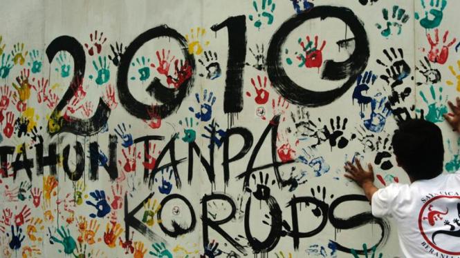 Perayaan Tahun Baru : Anti Korupsi di Solo