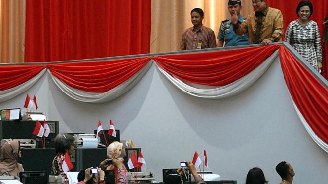 Presiden SBY  Buka Perdagangan Bursa Efek Indonesia