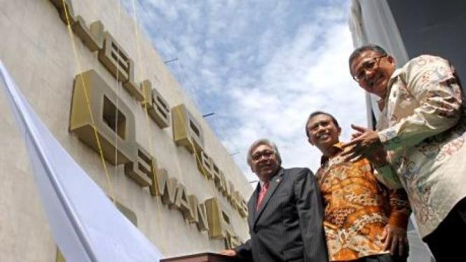 Ketua MPR, Ketua DPR & Ketua DPD resmikan nama baru gedung