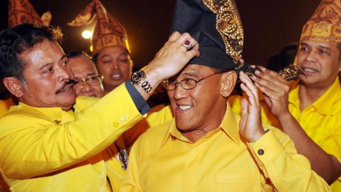 Aburizal Bakrie dan Syahrul Yasin Limpo