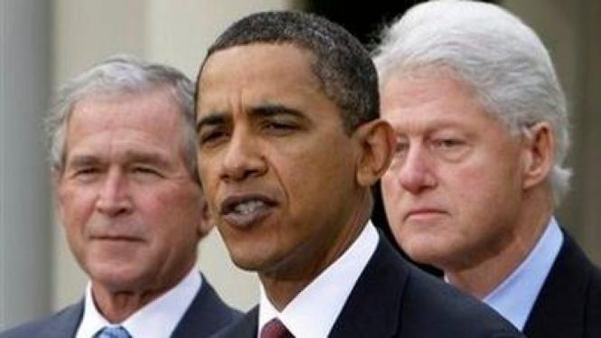 George W Bush, Bill Clinton & Barack Obama bersatu untuk Haiti