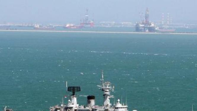 Kapal Perang TNI AL awasi tanker dari Pulau Nipah, perbatasan Singapura